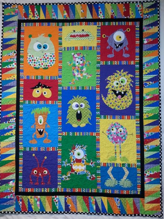 Mini Monster Quilt Pattern Etsy