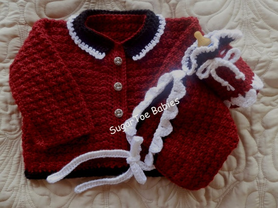 eee48c125 Baby Girl Sweater Hat and Bottle Cover Crochet Pattern Set 12