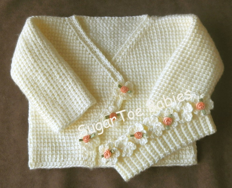 35af45cce Baby Girl Sweater Set 12 months Tunisian Afghan Stitch PDF
