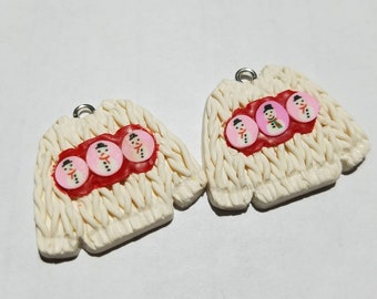 Ugly Christmas Sweater Charms for Jewelry or Other Decorations