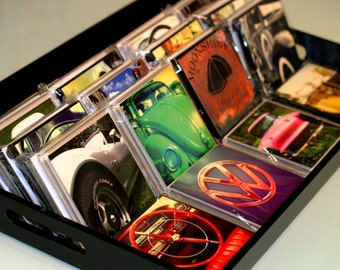 Classic Car Glass Photo Coasters (4) Piece Set  / Gifts/ Housewarming