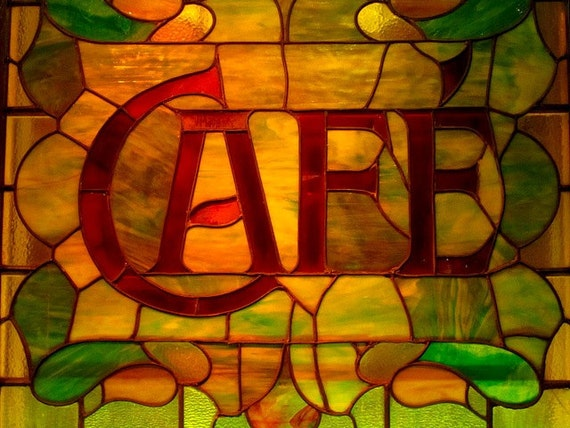Stained Glass Cafe New York City 8 X 10 Photograph Nyc Etsy