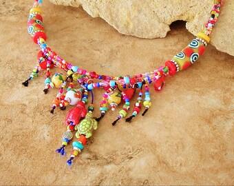 Closeout, Clearance, Final Sale, Bohemian Necklace, Hippie Gypsy Style, Original Handmade Bohemian Jewelry by Kaye Kraus