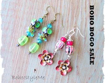 Earring Sale, Boho Earrings, BohoStyleMe, Bohemian Jewelry, Jewelry Sale, Boho Bogo Earring Sale, Closeout, Clearance, Final Sale