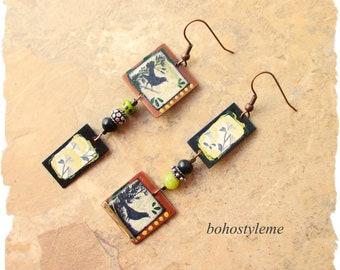 Closeout - Clearance - Final Sale - Bohemian Jewelry, bohostyleme, Dangle Earrings, Beaded Earrings, Modern Hippie, Kaye Kraus