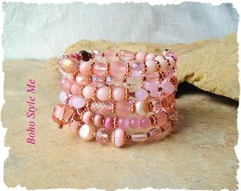Closeout, Clearance, Final Sale, Boho Style Layered Bracelet, Modern Glamour, Bohemian Jewelry, Boho Style Me