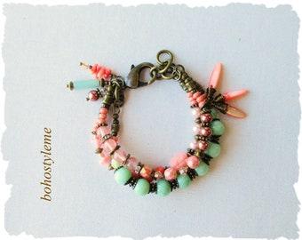 Boho Beaded Bracelet, bohostyleme, Bohemian Colorful Layered Jewelry, Modern Hippie, Boho Chic, Kaye Kraus