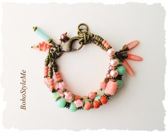 Bohemian Bracelet, Boho Fashion Jewelry, Layered Bracelet, Beachy, Modern Hippie Jewelry, BohoStyleMe, Kaye Kraus