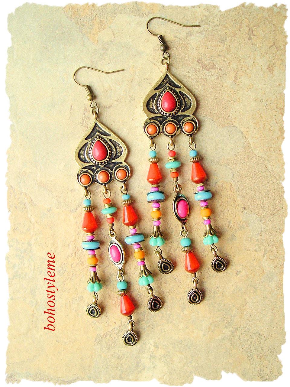 Boho Gypsy Indie Chandelier Earrings f3a43054b8