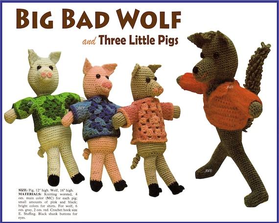 Big Bad Wolf - Amigurumi pattern by Irene Strange - Ravelry   456x570