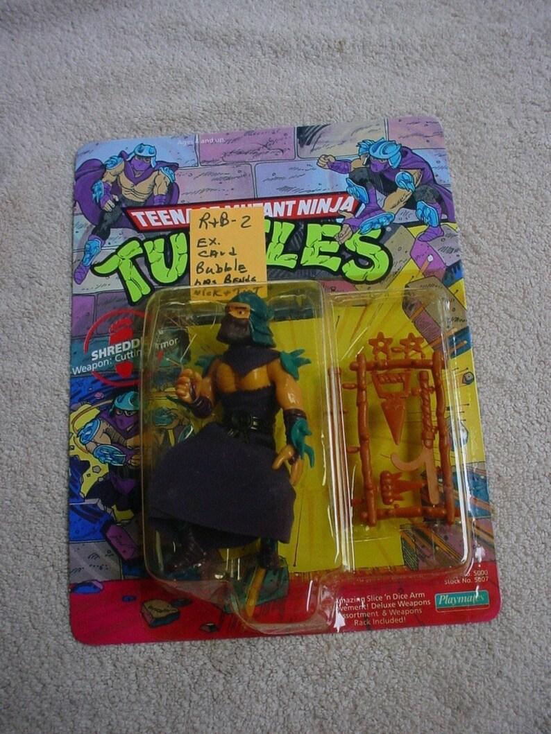 teenage mutant ninja turtles - Shredder on his 1990 card - He was the  LEADER of
