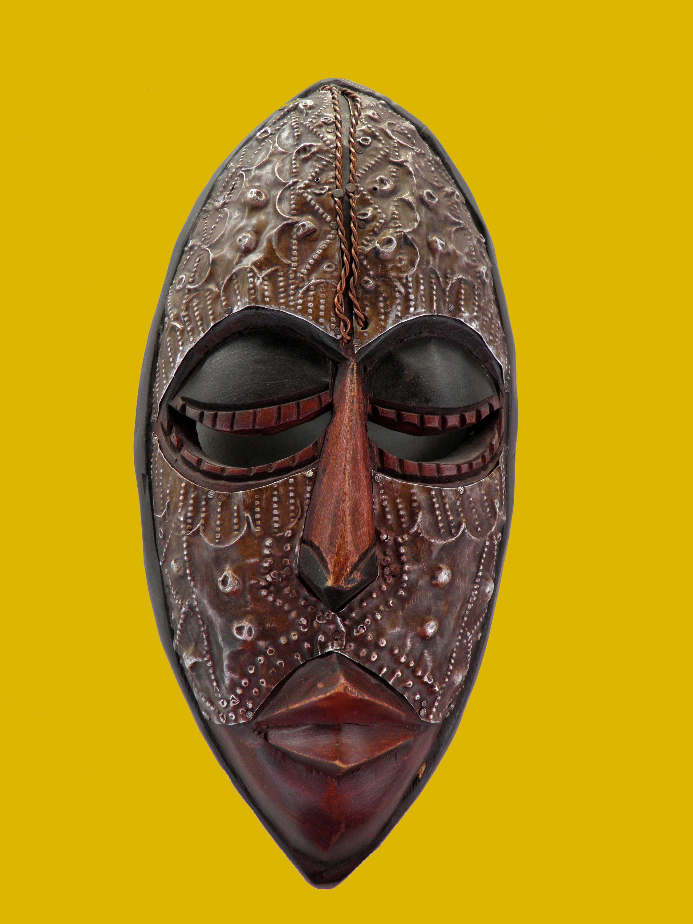 Ghana African Wood Face Mask Primitive Ceremonial Wall Art | Etsy