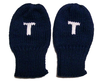Personalized Initial Mittens
