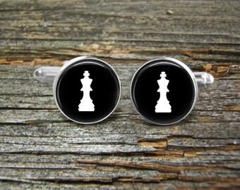 Chess piece cufflink | Etsy