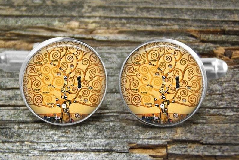 Klimt Tree of Life Cufflinks-Necklace-Tie Clip