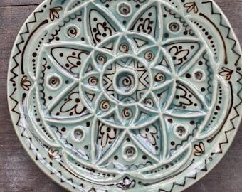 Seed of life mandala ring dish