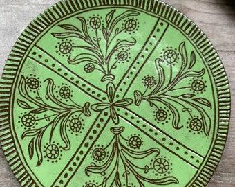 Boho flower trivet dish