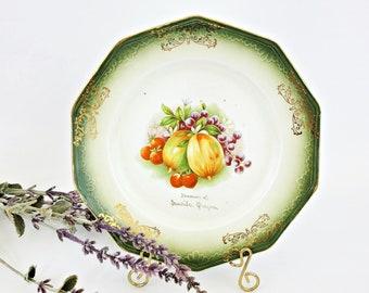Limoges France Birds and Fruit Tray 12\u201d Vintage