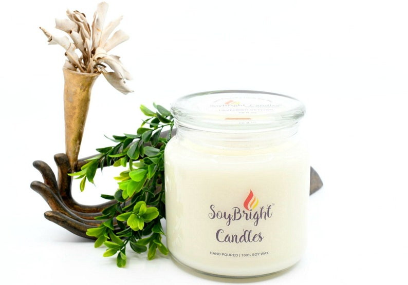 Frosted Birch and Juniper Apothecary Jar Soy Wax  SoyBright\u2122 Candle with Wooden Wick Best Hostess Gift- 16 oz Hand Poured Fresh Scent