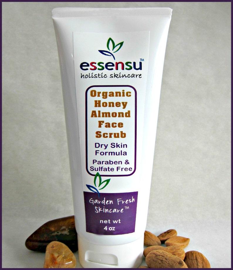 Organic Honey Almond Chia Seed Gentle Exfoliating Moisturizing image 0