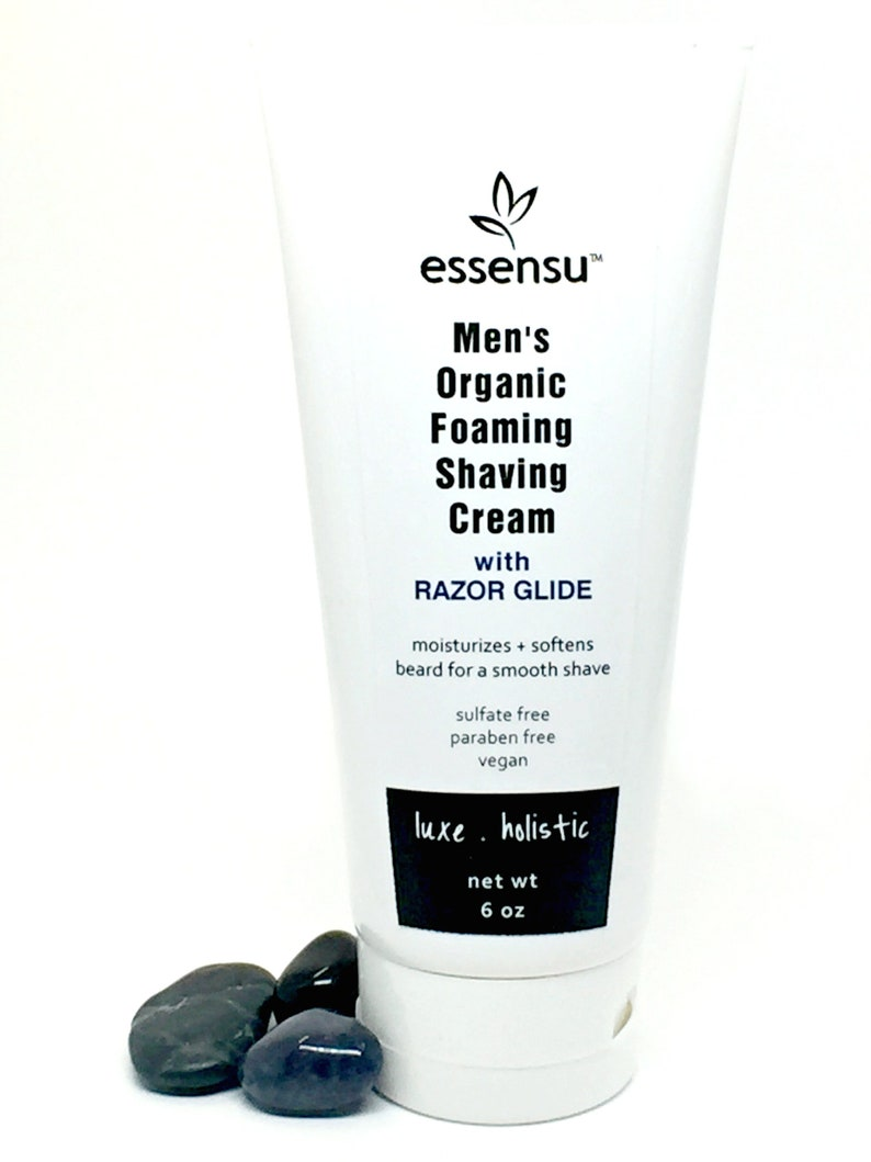 Mens Organic Sensitive Skin Moisturizing Foaming Shaving Cream image 0