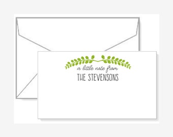 Personalized Gift Enclosure Cards with Mini-Envelopes - Branches