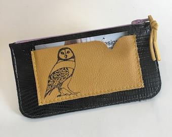 Owl zipper coin pouch