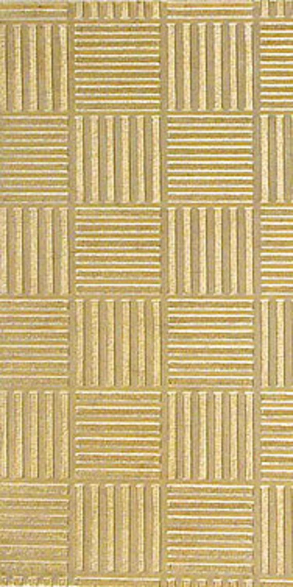 "Geometric Pattern Rolling Mill Texture Plate Pattern 2.5"" x 6"" Brass Texture Plates 24 Gauge Thick"