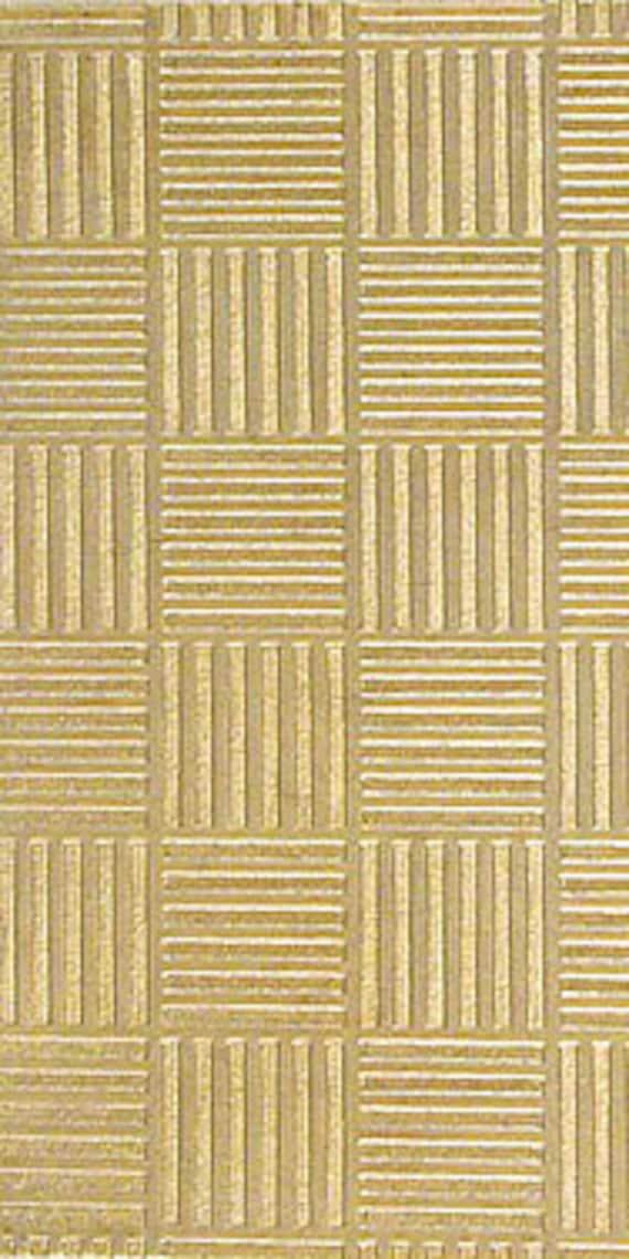 """Geometric Pattern 2.5"""" x 6"""" Brass Texture Plates"""