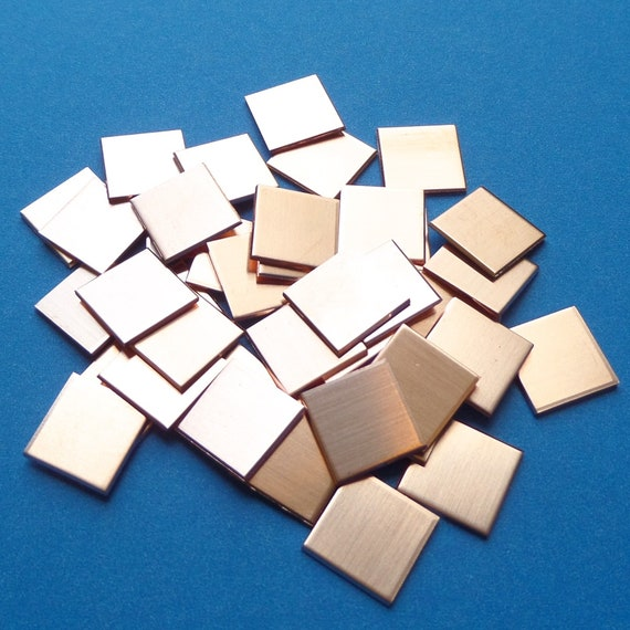 Copper Square Blanks Blanks 18 Gauge RAW or Polished Clean Surface for Enameling or Jewelry Choose Size and Finish