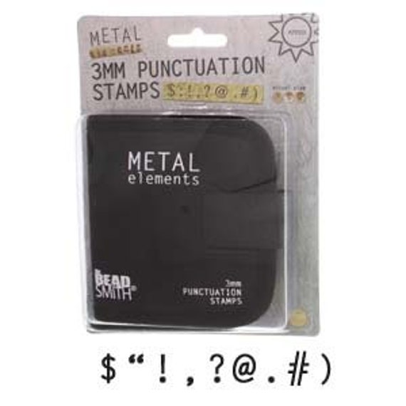 3mm Punctuation Set 9 Pieces Metal Stamping Set with Canvas Case includes by Beadsmith