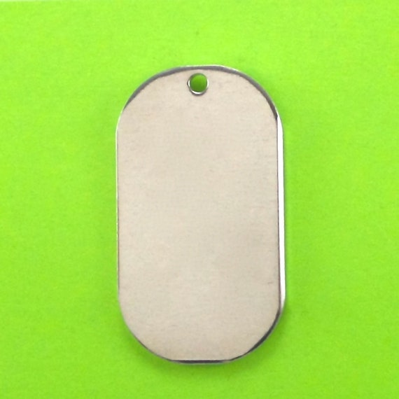 10 Dog Tags 12 Gauge Large  2 x 1-1/8 Inch 1100 Pure Food Safe Aluminum SOFT Temper 3mm HOLE - Made in USA