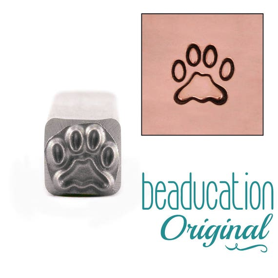 Paw Metal Design Stamp 7.5mm - Beaducation Original