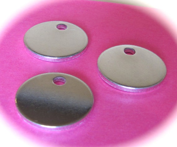 "DEALS 100 Discs 1/2"" 14 Gauge RAW with PVC on Both Sides with 1.5mm Hole 1100 Pure Food Safe Metal - 100 Discs"