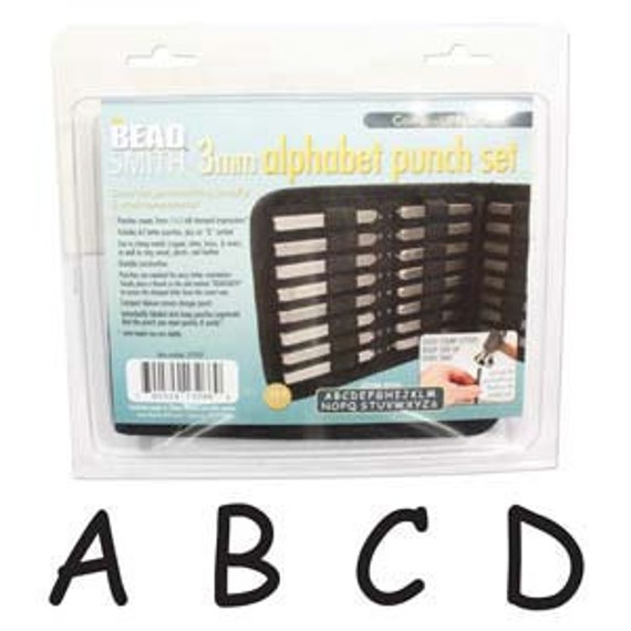 DEALS Letter Stamps Comic Uppercase and Lower Punch 27 Piece Set with Case (3MM) In Stock