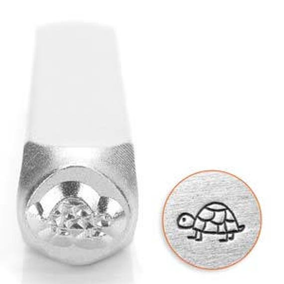 Deals Shelly the Turtle Metal Design Stamp 6mm wide and 6mm high - Metal Punch - ImpressArt