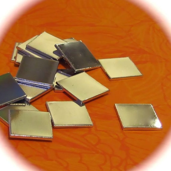 "10 Blanks 1"" Square Heavy  Weight 14 Gauge 1100 Pure Aluminum Tumbled - QTY 10"