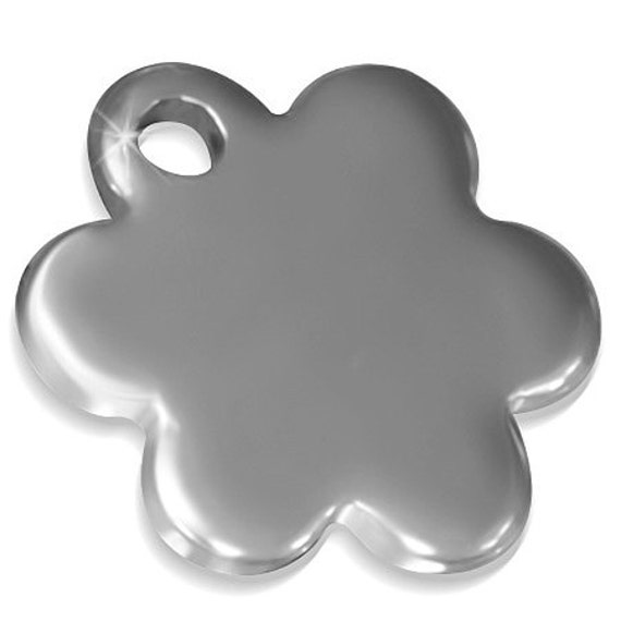 "Tiny Flower Charm 10 Charms 316L Surgical Stainless Steel DIY Jewelry Charms  8mm x 8mm to .31"" x .31"""