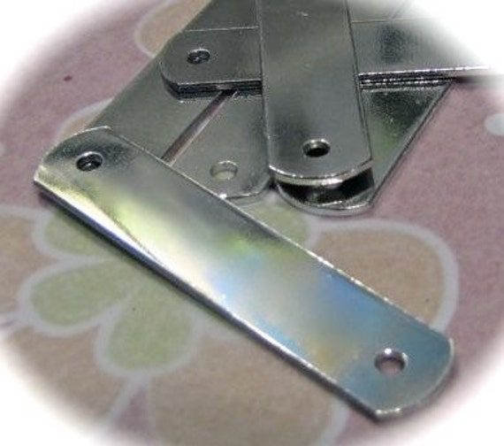 100 Blanks 1/2 x 2 14G ID Tags Polished or RAW Metal Stamping Blanks 3003 Commercially Pure Rectangle Aluminum Two 3mm Holes