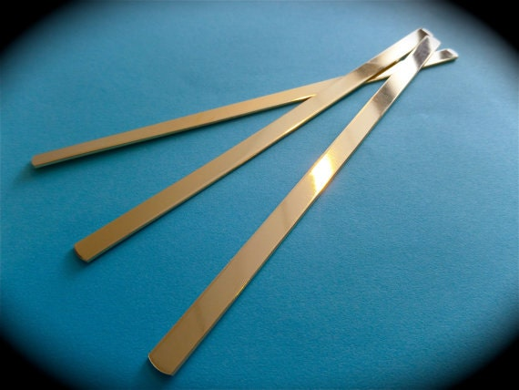 "3/8 x 5-3/4"" Brass 5 Cuffs 18 Gauge Jeweler's Brass Tumble Polished or RAW Metal Stamping Bracelet Blanks FLAT"