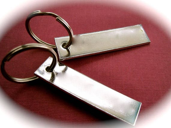 "150 Blanks 1/2"" x 2"" 14G Keychain Stamping Blanks 3003 Commercially Pure Rectangle Aluminum One 3mm Hole"