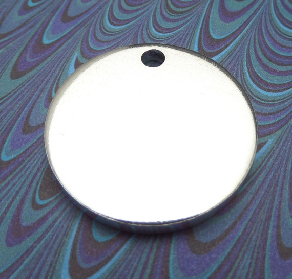 "10 Discs 1.25 Inch Discs 8 Gauge ONE 3.2mm thick Pure Food Safe Metal Almost 1/8"" Thick - 10 Discs"