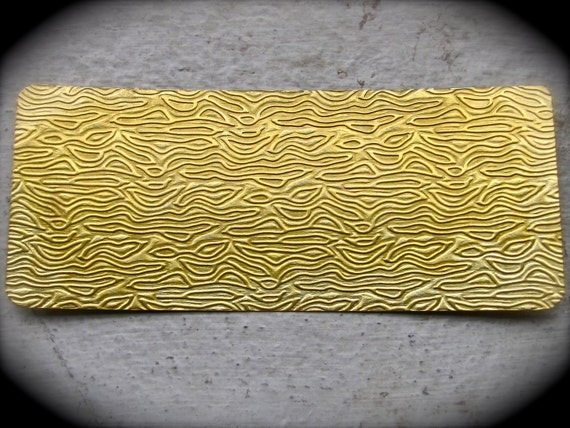 "WAVE Rolling Mill Texture Plate Pattern 2.5"" x 6"" Brass Texture Plates 24 Gauge Thick"