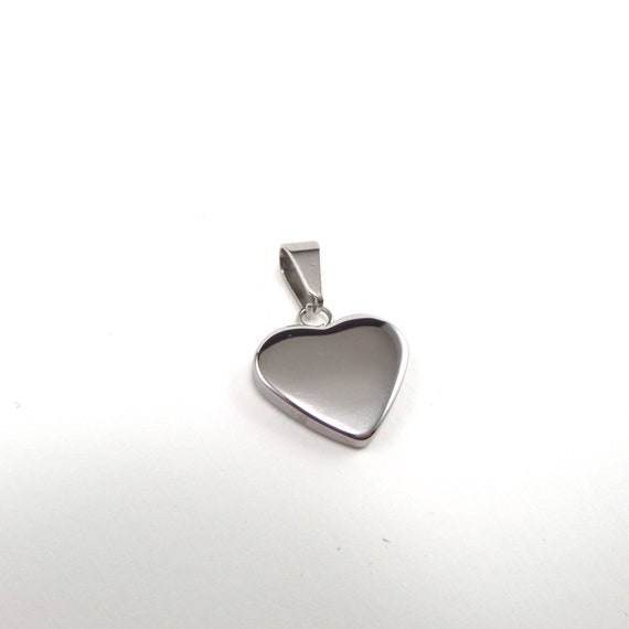 5 Heart Pendant Charms 304 Stainless Steel  17x17x3.5mm, Hole: 8x4mm Stamp or Engrave