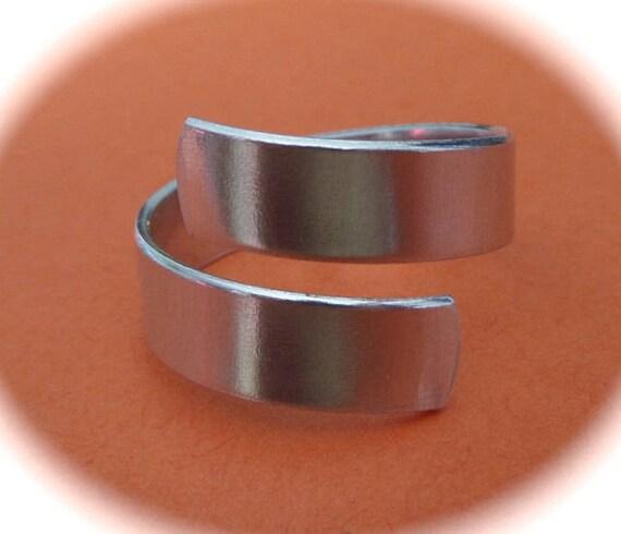 100 Wrap Blanks 16 GAUGE Ring Blanks Tumbled 1100 Food Safe Aluminum Metal Stamping Blank - Flat