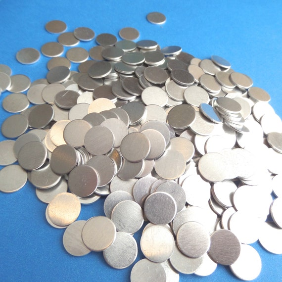 "DEAL 100 discs 1/2"" 18 Gauge Food Safe Aluminum RAW Hard Temper May have Surface Scratches"
