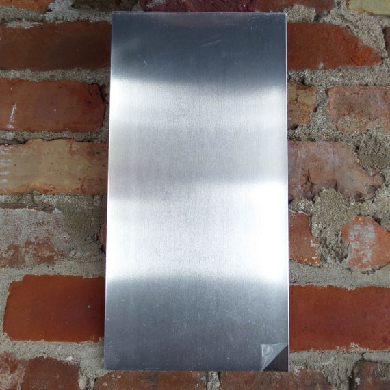 "1 Sheet 16G 3003 Aluminum 6"" x 12 "" Commercially Pure Aluminum Sheet - Unfinished Protective PVC on Both Sides - 16 gauge - Half Hard Temper"