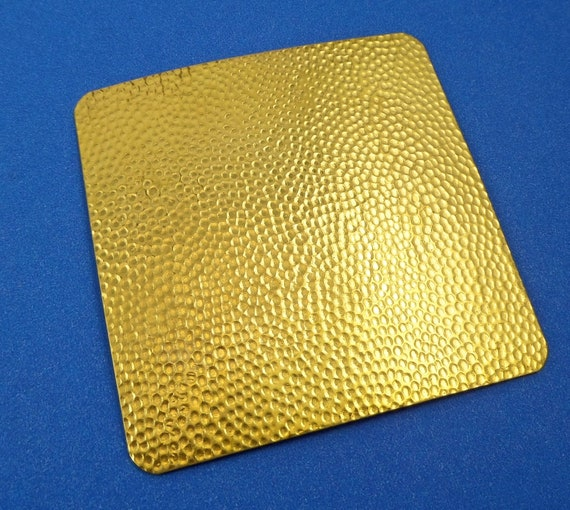 "Small Pebble Rolling Mill Texture Plate Pattern 2.5"" x 2.5"" Brass Texture Plates 24 Gauge Thick"