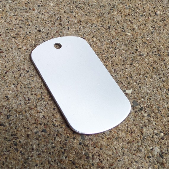 """5 Blanks Stainless Dog Tags 18 Gauge Large 3mm Hole 2"""" x 1-1/8"""" Lead Free Stainless Steel DeBurred"""