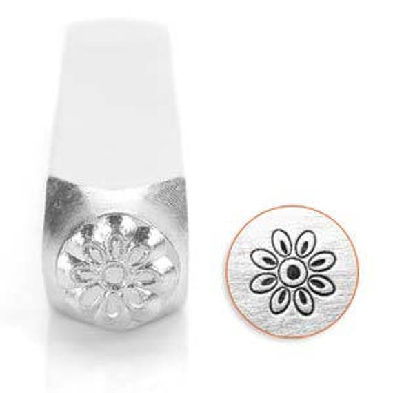 Floret Flower Metal Design Stamp 6mm wide and 6mm high - Metal Punch - ImpressArt